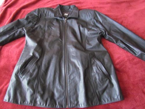 chaqueta 100%cuero argentino de mujer talla l,