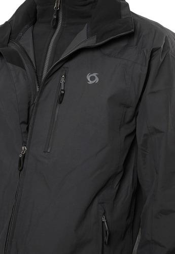 chaqueta 3 en 1 tribeca ptx negro doite