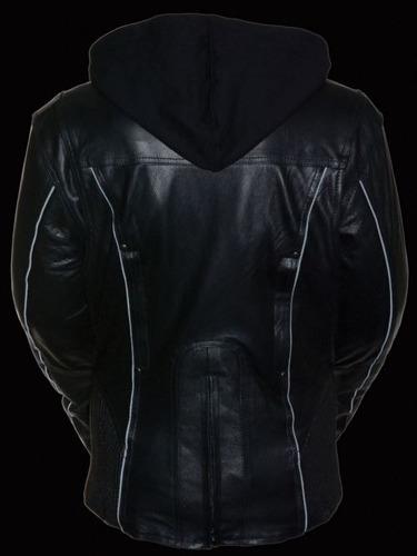chaqueta 3/4 milwaukee mujer cuero c/tribal reflectante 4xl