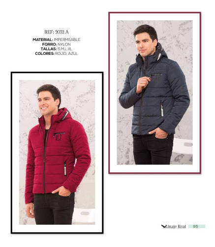 chaqueta acolchada impermeable para hombre capota nylon