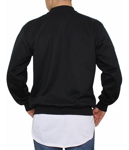 chaqueta azar beisbolera ch005 negro