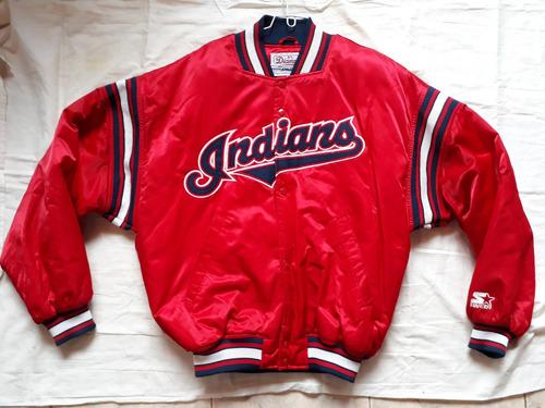 chaqueta beisbolera starter original - hombre talla m roja