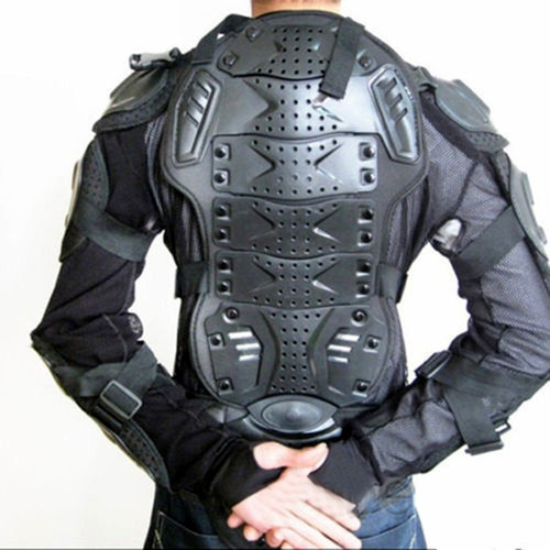 chaqueta body armor con protecciones para moto, bicicleta