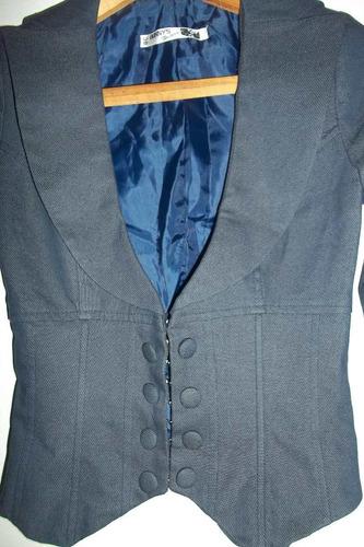chaqueta bunnys jeans tipo corse con barbas preciosa nueva