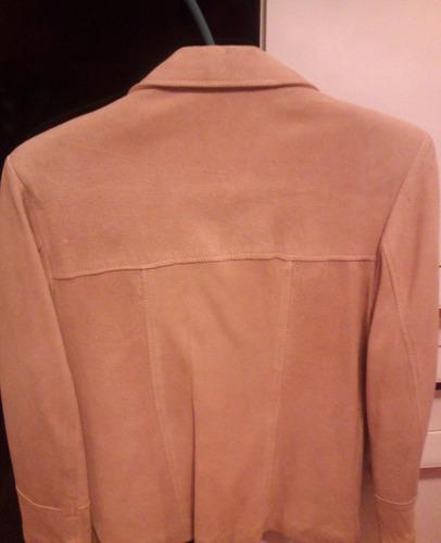 chaqueta campera gamuza legítima color camel, hermosa!!!!