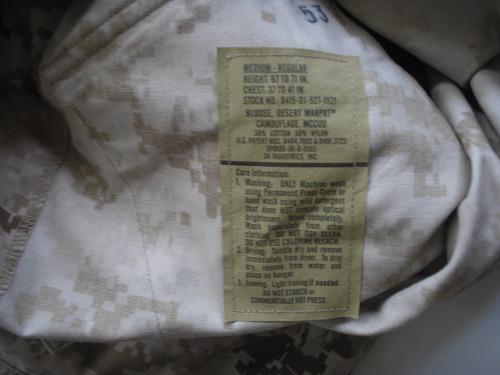 chaqueta camuflado militar us army marine desierto marpat m