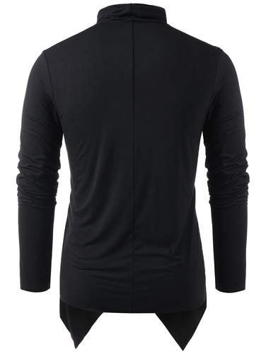 chaqueta cardigan superpuesta de manga larga para hombres
