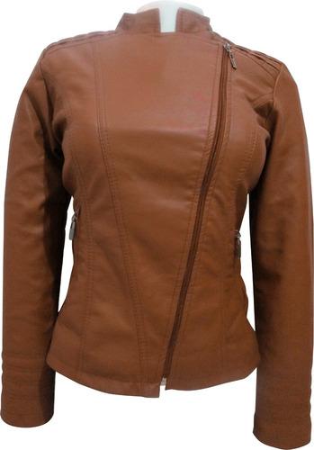 chaqueta carolina's clothing cuero sintético mujer piloto
