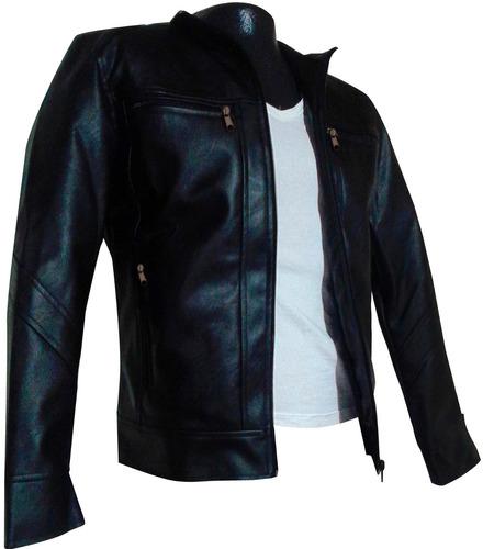 chaqueta carolina's clothing hombre cuero sintético clásica