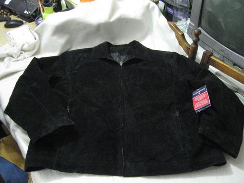 chaqueta casaca de cuero reno knightbridge talla l grande
