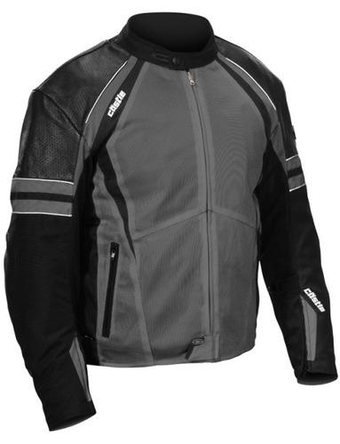 chaqueta castle streetwear contact gris/negra xl