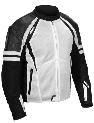chaqueta castle streetwear contact negra md blanco/