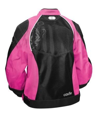 chaqueta castle streetwear desire p/mujer magenta/negro xl