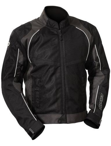 chaqueta castle streetwear pulse plata negro md