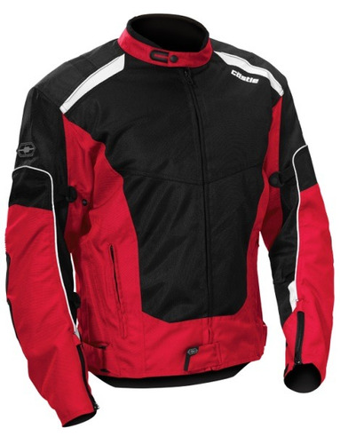 chaqueta castle streetwear turbine 2 rojo negro md