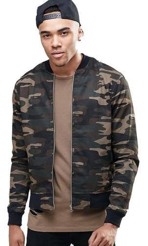 chaqueta cazadora bomber hombre camo camuflada militar