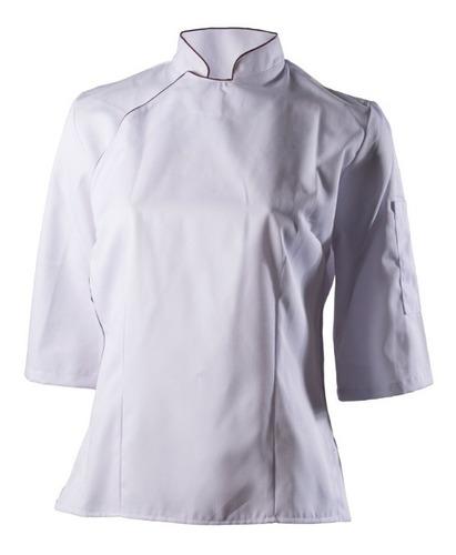 chaqueta chef dama modelo narda con vivos