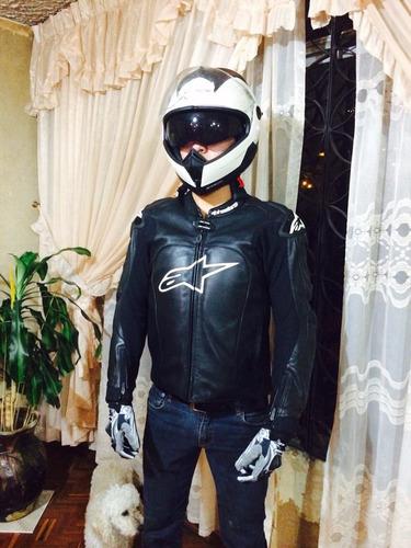 chaqueta chompa de cuero para moto alpinestar original m