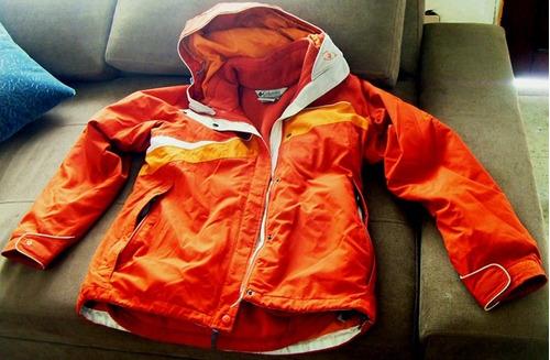 chaqueta columbia talla s vertex con polar capucha impermeab