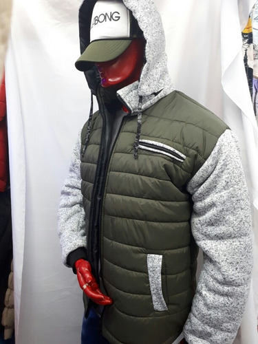 chaqueta combinacion lanilla tallas m.l.xl