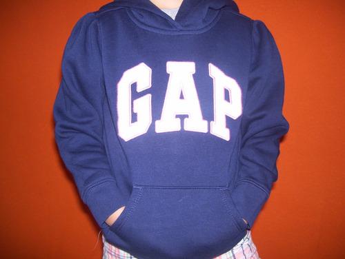 chaqueta  con capucha gap niña original