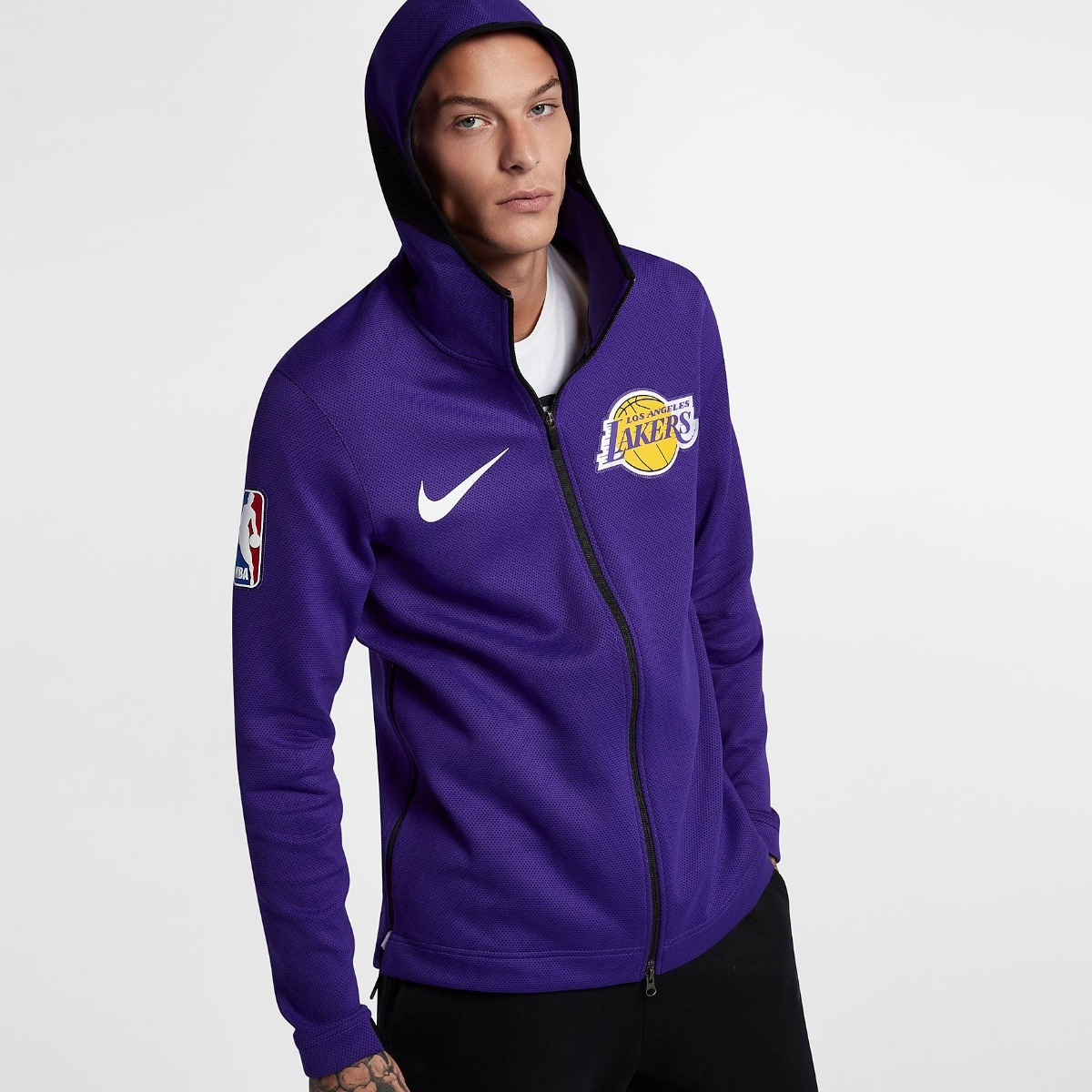 A Nba Chaqueta Lakers Capucha Nike Con Pedido Therma Flex ZOvq0P