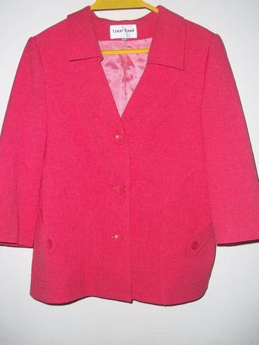 chaqueta coral forrada sin uso talle 44  manga 3/4 argentina