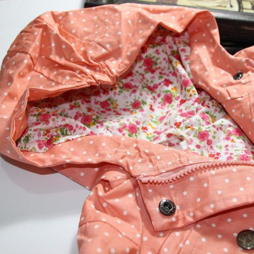 chaqueta cortaviento salmón ropa bebés niñas