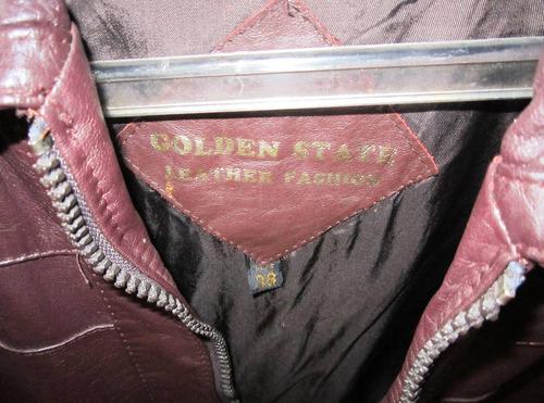 chaqueta cuero color marrón original t. 38.