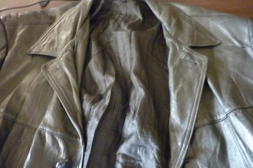 chaqueta cuero hombre color negro, talla 46