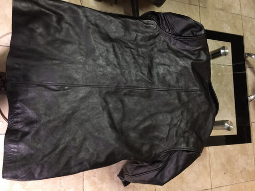 chaqueta cuero hombre larga, talla xl
