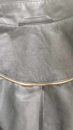 chaqueta cuero kookai