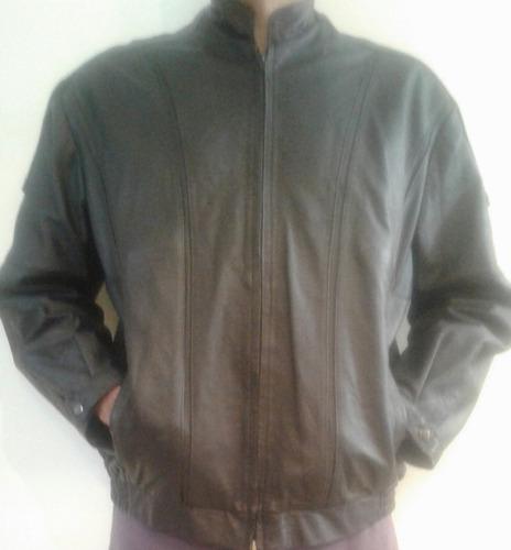 chaqueta cuero legitimo 100% colombiano - talla 46 / l