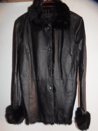 chaqueta cuero negra s mujer - nueva/ no zara gap gacel h&m