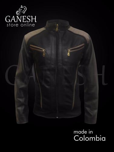 chaqueta cuero sintético para hombre ganesh berlin
