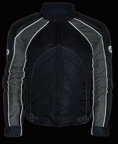chaqueta de carrera milwaukee cuero gris p/hombre lg