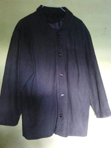 chaqueta de cuero color marron oscuro marca cueros milenium