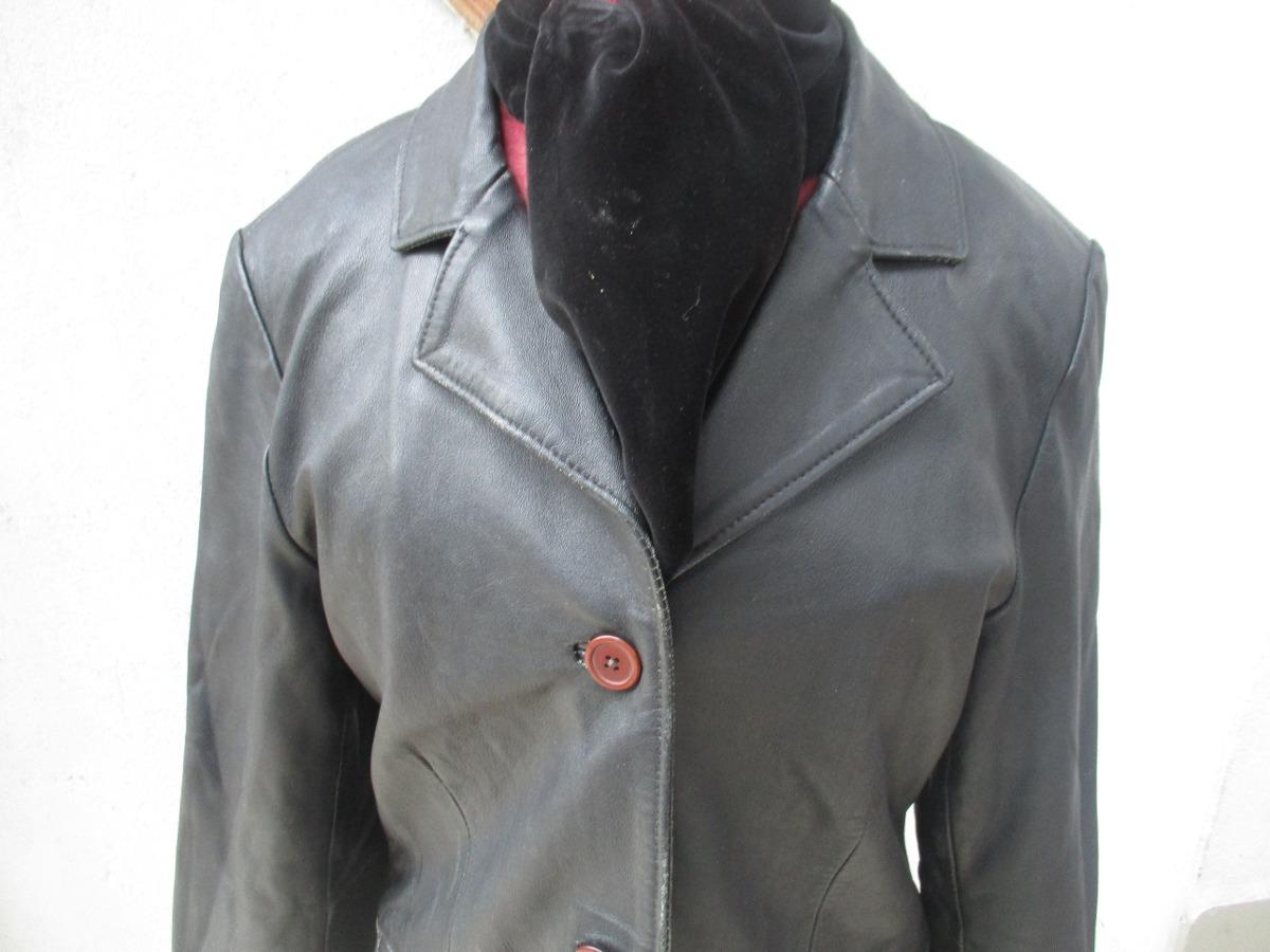 Marca Negro Rossano Cuero Color Talla Chaqueta 7ndhq Mujer L De TcBnI8T