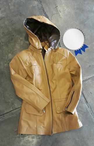 chaqueta de cuero diseño exclusivo con capucha para niñas