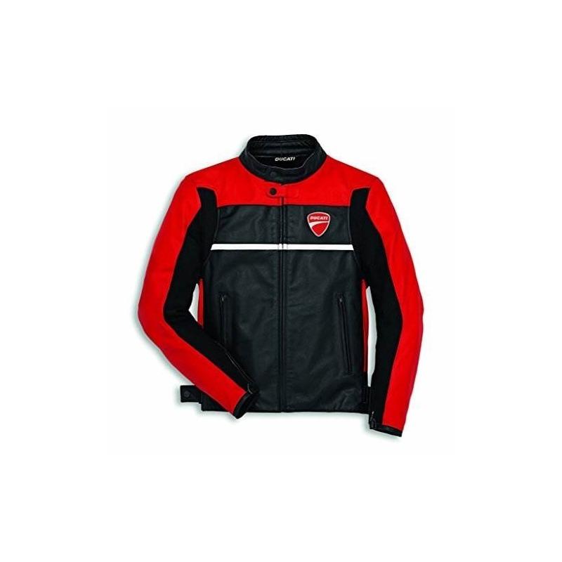 90e863479e6 Chaqueta De Cuero Ducati Mens Company C2 - Rojo   Negro 58 ...