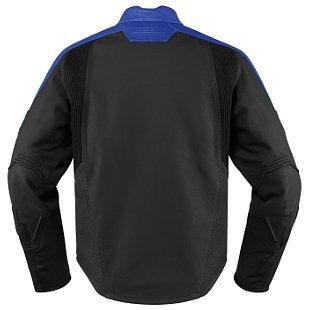 chaqueta de cuero icon motorhead 2 para hombre azul md
