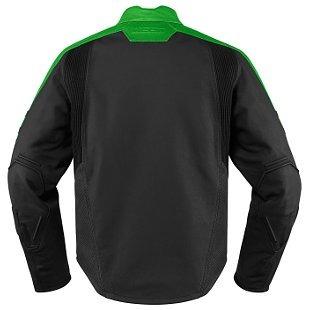 chaqueta de cuero icon motorhead 2 para hombre verde sm