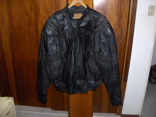 chaqueta de cuero legitimo para caballero, talla xl