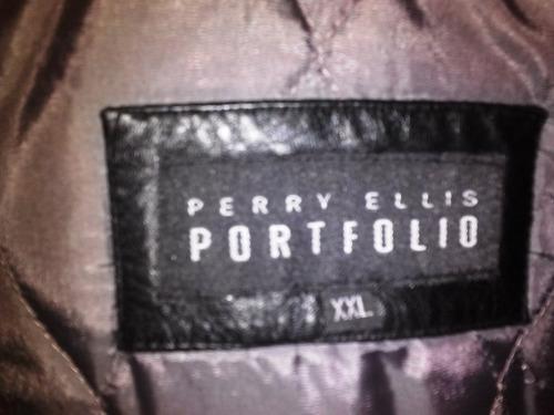 chaqueta de cuero marca perry ellis talla xxl bs 450000,00