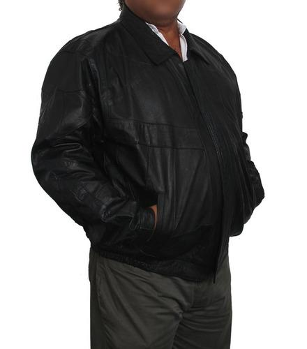 chaqueta de cuero nappa negro