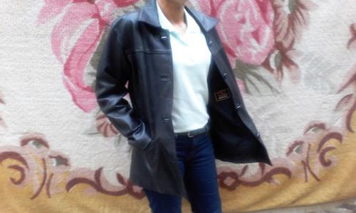 chaqueta de cuero para dama color negro