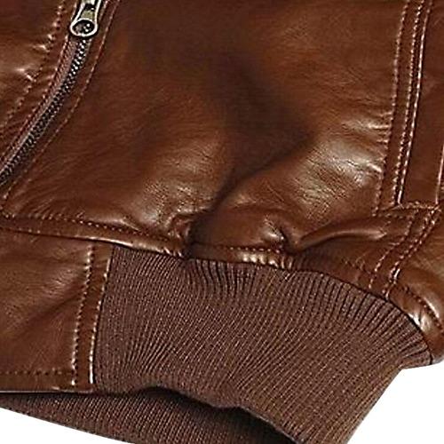 chaqueta de cuero para motociclista para caballero