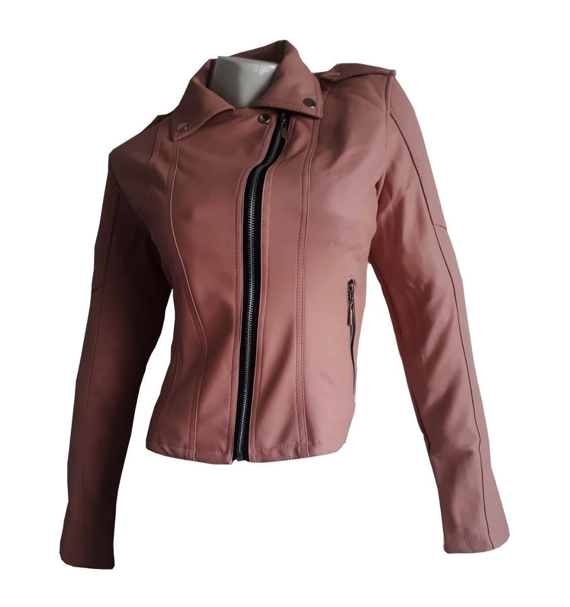 74ab07a0 Chaqueta De Cuero Sintético Mujer Fashion, Cuerotex - $ 77.900 en ...