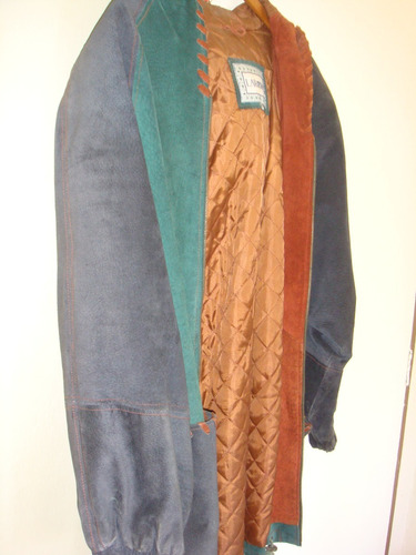 chaqueta de cuero tipo poncho