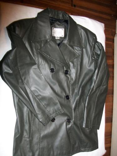 chaqueta de dama en simil cuero talle m